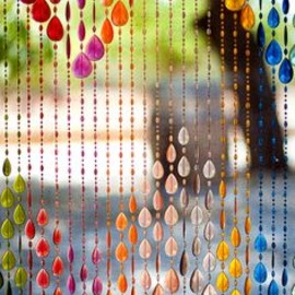 beads curtain colors christal