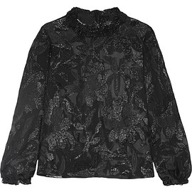 Isabel Marant - Udell ruffle-trimmed fil coupé top