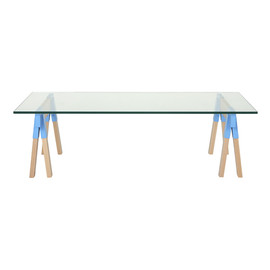 CIBONE - Trestle CENTER TABLE glass