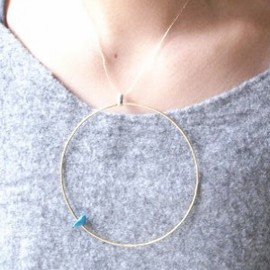 """emerald 13 - ▼▲""""ring"""" necklace▲▼"""