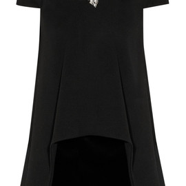 Alexander McQueen - Crystal-embellished stretch-wool and velvet mini dress