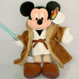 Star Wars Disney Park Exclusive Mickey Mouse Jedi Plush
