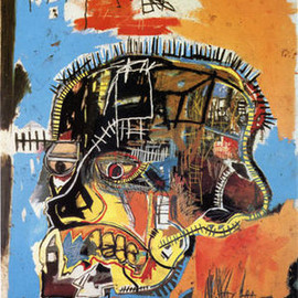 "Jean-Michel Basquiat - ""Untitled (Skull)""  1984"