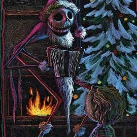 Tim Burton - Tim Burton`s Nightmare before Christmas Concept Drawing.
