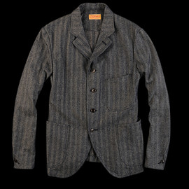 JOURNAL STANDARD - Herringbone Indigo Old Style Jacket