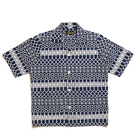 NEEDLES - Cabana Shirt-Cotton Cloth/Rayon Emb.-Navy
