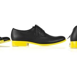 JIL SANDER - two-tone lace-up leather brogues