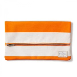"HEAD PORTER - ""BRIGHTON"" CLUTCH BAG ORANGE"