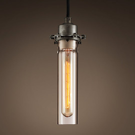 Restoration Hardware - Edison Glass Pendant Gunmetal