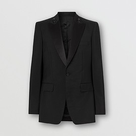 BURBERRY - English Fit Embellished Mohair Wool Tuxedo Jacket