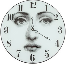 FORNASETTI - face printed clock