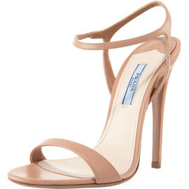 PRADA - Strap Leather Sandal
