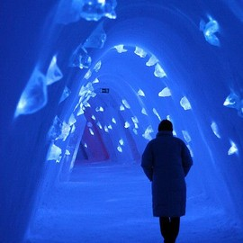 Room at the Ice Hotel, Sweden