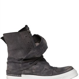 CINZIA ARAIA - NUBUCK HIGH TOP SNEAKERS