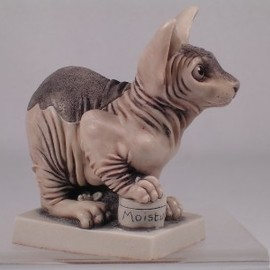 Harmony Kingdom - 'Skin Deep' RARE Sphinx 'Naked' Cat