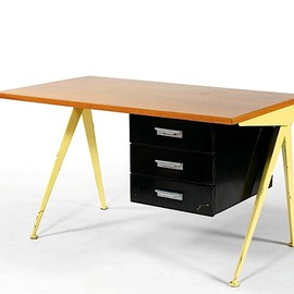 Jean Prouve - Yellow compass desk, ca1953