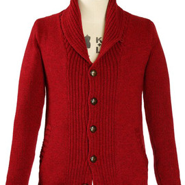 Oliver Spencer - Shawl Collar Cardigan Red (OSK210)
