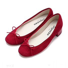 repetto - Goatskin suede Red