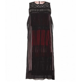 BOTTEGA VENETA - LAYERED FRINGED CHIFFON DRESS