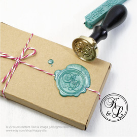 happyvilla - Custom Sealing wax stamp, wax stamp, sealing stamp, monogrammed