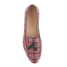 J.CREW - Collection Biella printed tassel loafers