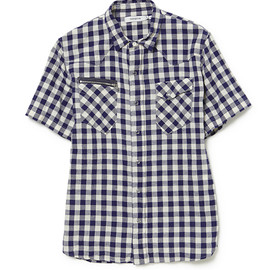nonnative - RANCHER SHIRT SS C/L GINGHAM CHECK