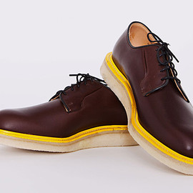 Mark McNairy - Très Bien Shop x Mark McNairy Brown Waxy Wholecut Derby Shoes