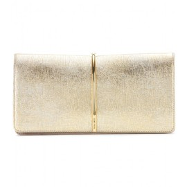 NINA RICCI - Metallic leather and suede clutch