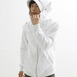 White Knight Medieval Armor Man Hoodie(100% Handmade Wool) Made To Order