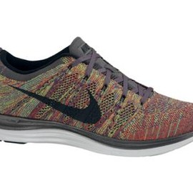 Nike - NIKE FLYKNIT LUNAR 1+ DARK GREY/BLACK-GAME ROYAL/UNIVERSITY