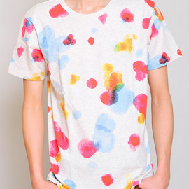 graniph - Watercolor Short Sleeve(Water Color Flower)