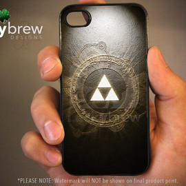 Zelda iPhone 4 4s Hard Case - Legend of Zelda Triforce Art - Phone Cover IP4