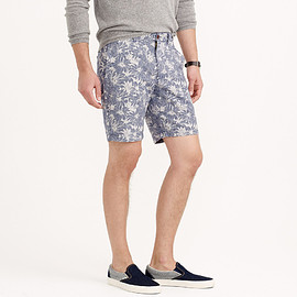 "J.CREW - 9"" STANTON SHORT IN BLUE FLORAL"