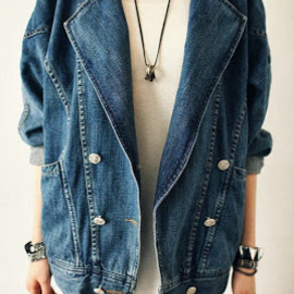 HOW-MI - Loose Long Sleeve Denim Jacket ♥♥♥