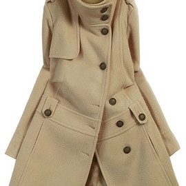 coat - Image ofOL Style Stand Collar Pure Color Coat
