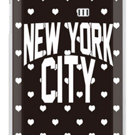 SECOND SKIN - NYC ホワイトハートドット (クリア) design by Moisture / for AQUOS PHONE SERIE ISW16SH/au