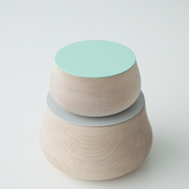"Studio Juju - ""Wobble"" Wood Cotainers"