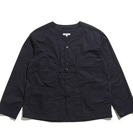 ENGINEERED GARMENTS - Cardigan Jacket-High Count Twill-Dk.Navy