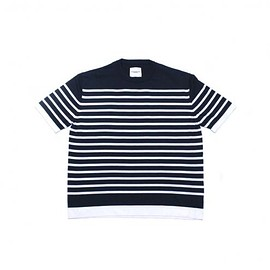 TAKAHIROMIYASHITA The SoloIst. - 16g crew neck s/s border stripes sweater.