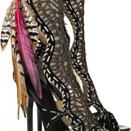 JIMMY CHOO - Kevan woven leather and suede sandals