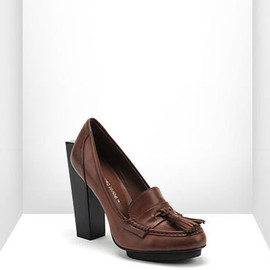 UNITED NUDE - Block Loafer Hi Cognac Calf Leather