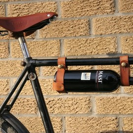 oopsmark - Bicycle Wine Rack, Leather  - 1