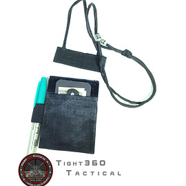 Tight360Tactical - Tactical ID Credential Laynard - Black
