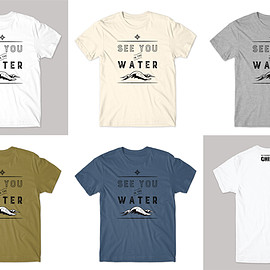 """Mina Daimon - T-shirt """"See You in the Water"""""""
