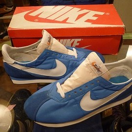 "NIKE - 「<deadstock>90's NIKE WAFFLE TRAINER BRITTANY""SHOW SAMPLE"" blue/white""made in KOREA"" W/BOX size:US9 17800yen」完売"