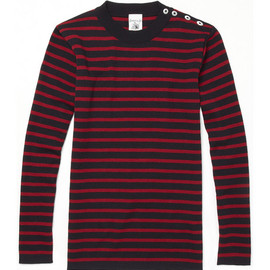S.N.S. Herning - S.N.S. Herning Naval Striped Wool Hand-Knitted Sweater