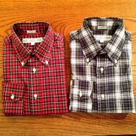 INDIVIDUALIZED SHIRTS - STANDARD FIT TARTAN CHECK B.D. SHIRTS