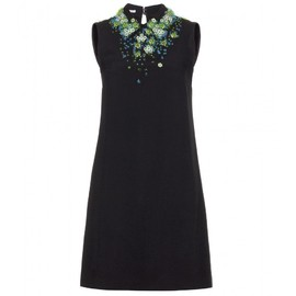 miu miu - BEAD-EMBELLISHED CREPE DRESS