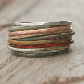 amywaltz - Stacking Skinny Rustic Rings