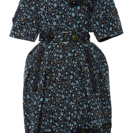 MARC JACOBS - SS2015 Blue Small Flower Print Embellished Dress